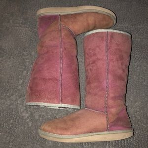 UGG Australia women's pink and purple classic tall